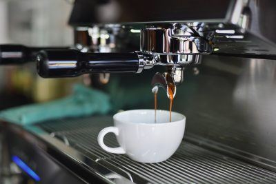 Professional coffee machines, coffee cup
