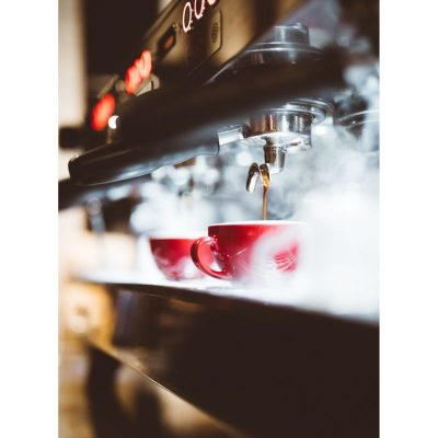 Commercial coffee machine brands, coffee machine, red coffee cup
